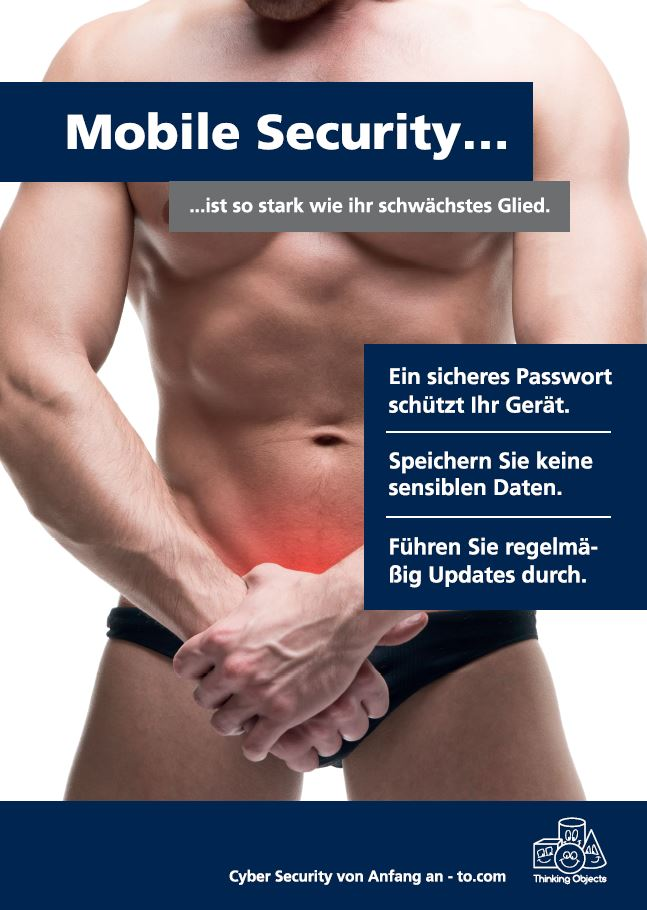 Awareness-Plakat Mobile Security