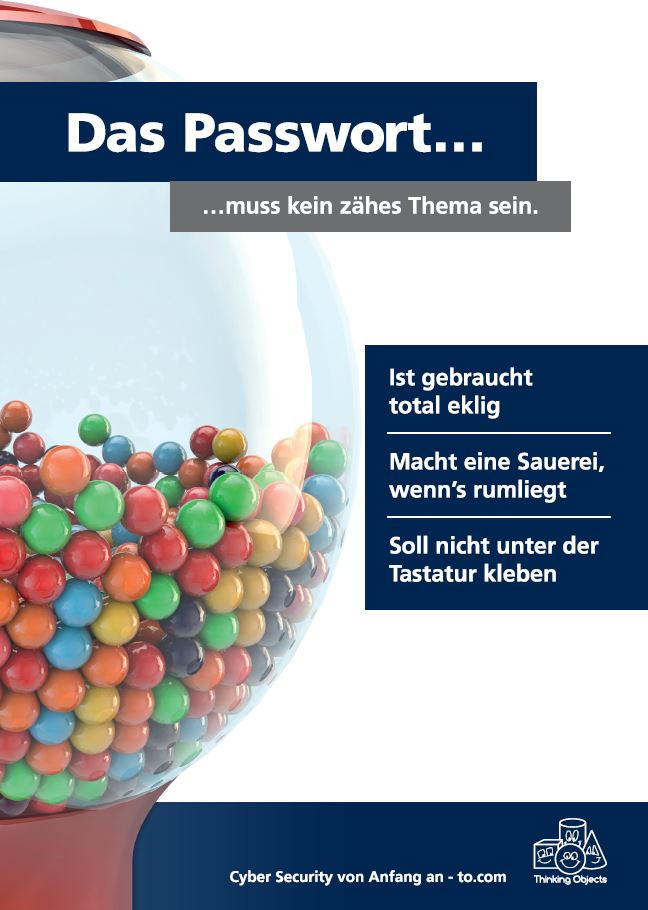 Awareness-Plakat Passwort