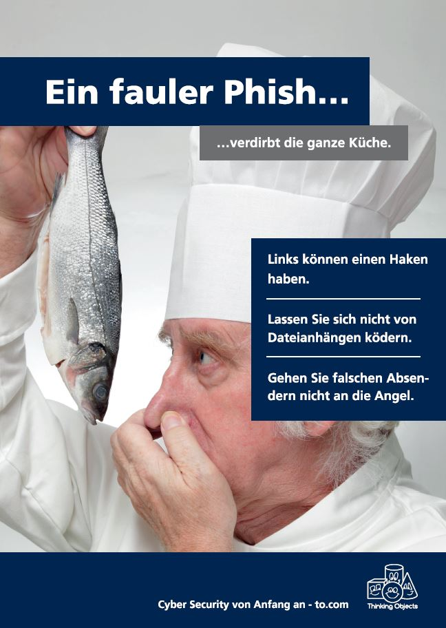 Awareness-Plakat Phishing